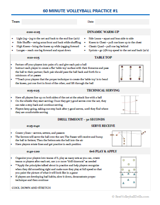 volleyball practice plan template essential volleyball practice plans bestvolleyballdrills