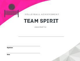 Essential volleyball printables bestvolleyballdrills team spirit award yadclub Image collections