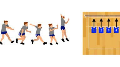 Approach Step Beginner's Volleyball Drill