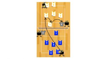 pass set volleyball passing drill