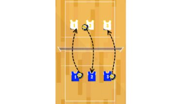 short court volleyball serving drill