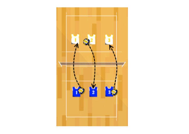 short court volleyball serving drill