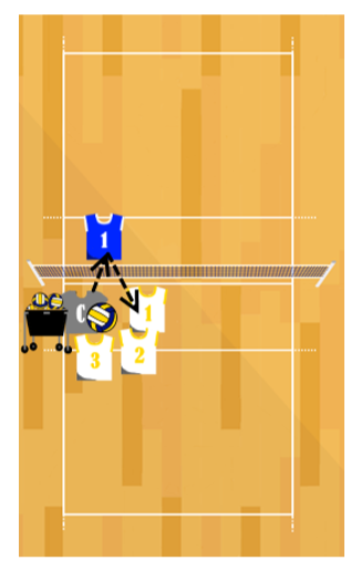 Timing Drill Volleyball Blocking Drill
