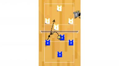 3 on 3 tactics volleyball drill featured